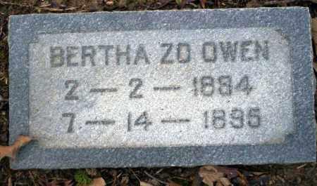 OWEN, BERTHA ZO - Columbia County, Arkansas | BERTHA ZO OWEN - Arkansas Gravestone Photos