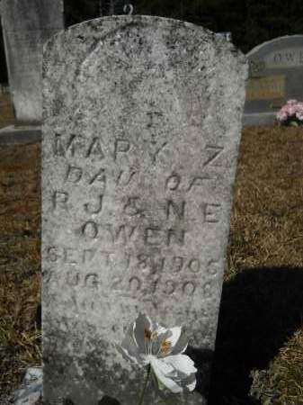OWEN, MARY Z - Columbia County, Arkansas | MARY Z OWEN - Arkansas Gravestone Photos