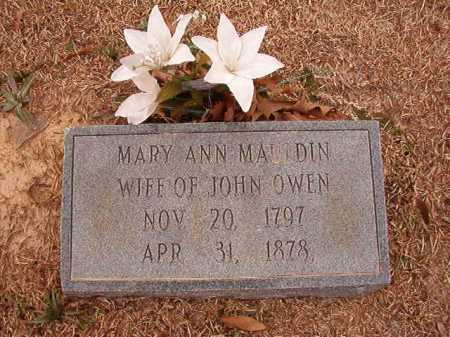 OWEN, MARY ANN - Columbia County, Arkansas | MARY ANN OWEN - Arkansas Gravestone Photos