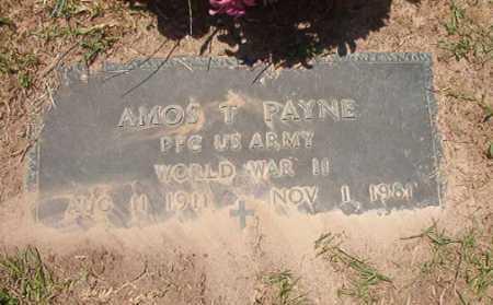 PAYNE (VETERAN WWII), AMOS T - Columbia County, Arkansas | AMOS T PAYNE (VETERAN WWII) - Arkansas Gravestone Photos
