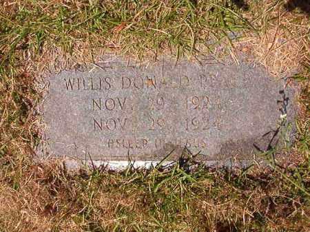 PEACE, WILLIS DONALD - Columbia County, Arkansas   WILLIS DONALD PEACE - Arkansas Gravestone Photos
