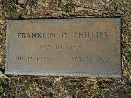 PHILLIPS (VETERAN), FRANKLIN D - Columbia County, Arkansas | FRANKLIN D PHILLIPS (VETERAN) - Arkansas Gravestone Photos