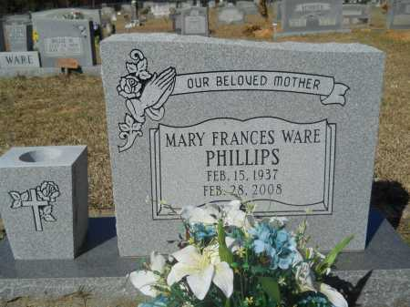 WARE PHILLIPS, MARY FRANCES - Columbia County, Arkansas | MARY FRANCES WARE PHILLIPS - Arkansas Gravestone Photos