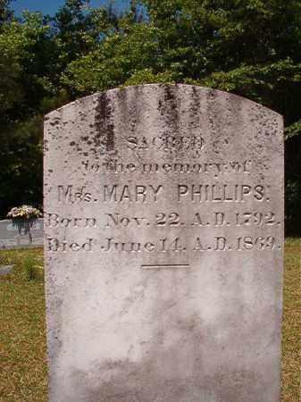 PHILLIPS, MARY - Columbia County, Arkansas | MARY PHILLIPS - Arkansas Gravestone Photos