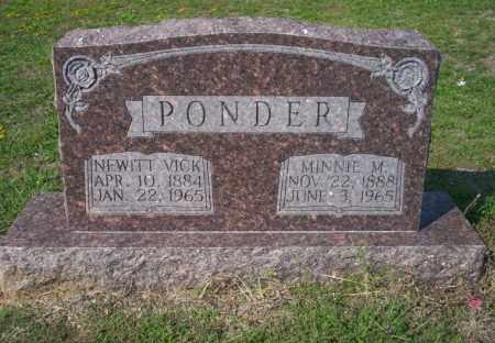 PONDER, MINNIE M - Columbia County, Arkansas   MINNIE M PONDER - Arkansas Gravestone Photos