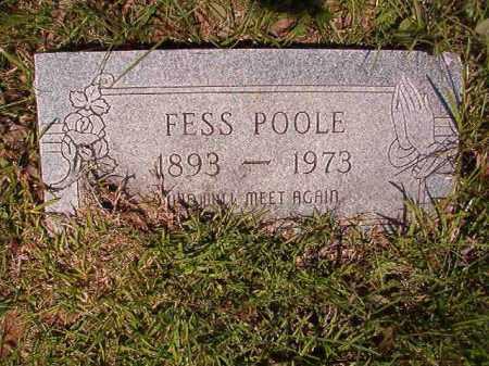 POOLE, FESS - Columbia County, Arkansas | FESS POOLE - Arkansas Gravestone Photos