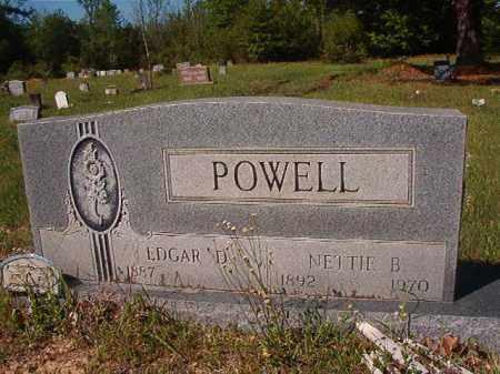 POWELL, EDGAR D - Columbia County, Arkansas   EDGAR D POWELL - Arkansas Gravestone Photos