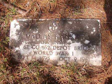 RANKINS (VETERAN WWI), DALLAS - Columbia County, Arkansas   DALLAS RANKINS (VETERAN WWI) - Arkansas Gravestone Photos