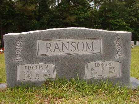 RANSOM, GEORGIA M - Columbia County, Arkansas | GEORGIA M RANSOM - Arkansas Gravestone Photos