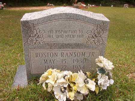 RANSOM, JR, ROSTON - Columbia County, Arkansas   ROSTON RANSOM, JR - Arkansas Gravestone Photos