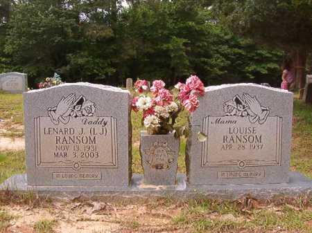 RANSOM, LENARD J - Columbia County, Arkansas | LENARD J RANSOM - Arkansas Gravestone Photos