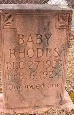 RHODES, BABY - Columbia County, Arkansas   BABY RHODES - Arkansas Gravestone Photos