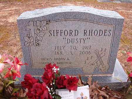"RHODES, SIFFORD ""DUSTY"" - Columbia County, Arkansas | SIFFORD ""DUSTY"" RHODES - Arkansas Gravestone Photos"