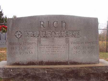 BARNETT RICH, VIRGINIA - Columbia County, Arkansas | VIRGINIA BARNETT RICH - Arkansas Gravestone Photos