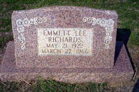 RICHARDS, EMMETT LEE - Columbia County, Arkansas | EMMETT LEE RICHARDS - Arkansas Gravestone Photos