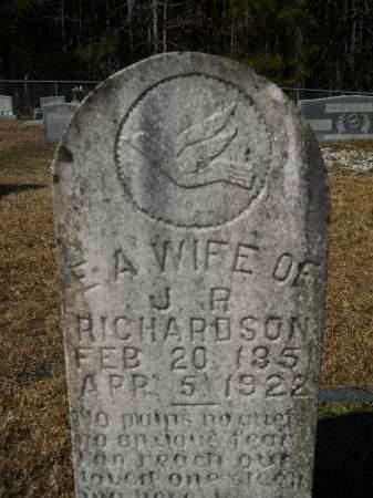 RICHARDSON, E A - Columbia County, Arkansas | E A RICHARDSON - Arkansas Gravestone Photos