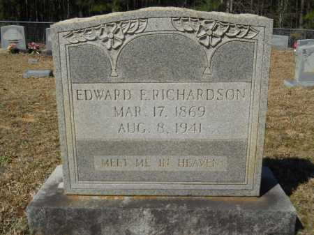 RICHARDSON, EDWARD E - Columbia County, Arkansas | EDWARD E RICHARDSON - Arkansas Gravestone Photos