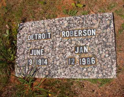 ROBERSON, DETROIT - Columbia County, Arkansas   DETROIT ROBERSON - Arkansas Gravestone Photos