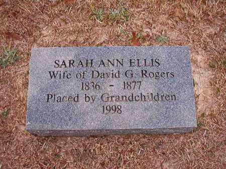 ROGERS, SARAH ANN - Columbia County, Arkansas   SARAH ANN ROGERS - Arkansas Gravestone Photos