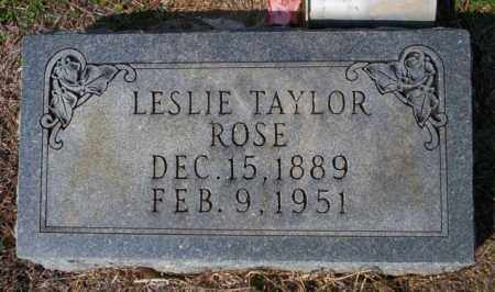 TAYLOR ROSE, LESLIE - Columbia County, Arkansas | LESLIE TAYLOR ROSE - Arkansas Gravestone Photos