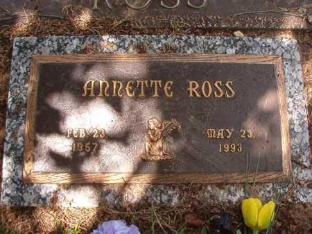 ROSS, ANNETTE - Columbia County, Arkansas   ANNETTE ROSS - Arkansas Gravestone Photos