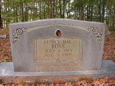 ROSS, EUNICE MAE - Columbia County, Arkansas   EUNICE MAE ROSS - Arkansas Gravestone Photos