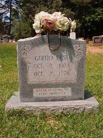 ROSS, GERTHA - Columbia County, Arkansas   GERTHA ROSS - Arkansas Gravestone Photos