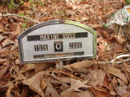 ROSS, MAXINE - Columbia County, Arkansas | MAXINE ROSS - Arkansas Gravestone Photos