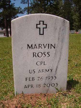 ROSS (VETERAN), MARVIN - Columbia County, Arkansas | MARVIN ROSS (VETERAN) - Arkansas Gravestone Photos