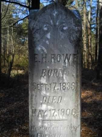ROWE, E H - Columbia County, Arkansas | E H ROWE - Arkansas Gravestone Photos