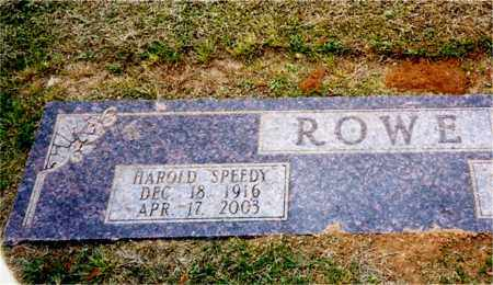 ROWE, HAROLD SPEEDY - Columbia County, Arkansas | HAROLD SPEEDY ROWE - Arkansas Gravestone Photos