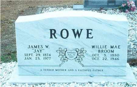 BROOM ROWE, WILLIE MAE - Columbia County, Arkansas | WILLIE MAE BROOM ROWE - Arkansas Gravestone Photos