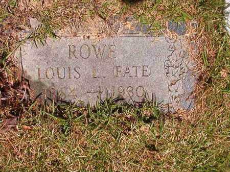 ROWE, LOUIS L (FATE) - Columbia County, Arkansas | LOUIS L (FATE) ROWE - Arkansas Gravestone Photos