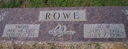 ROWE, JO W - Columbia County, Arkansas | JO W ROWE - Arkansas Gravestone Photos