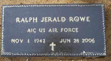 ROWE (VETERAN ), RALPH JERALD - Columbia County, Arkansas   RALPH JERALD ROWE (VETERAN ) - Arkansas Gravestone Photos