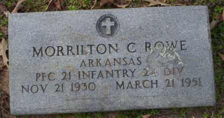 ROWE (VETERAN), MORRILTON C - Columbia County, Arkansas | MORRILTON C ROWE (VETERAN) - Arkansas Gravestone Photos