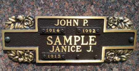 SAMPLE, JOHN P - Columbia County, Arkansas | JOHN P SAMPLE - Arkansas Gravestone Photos