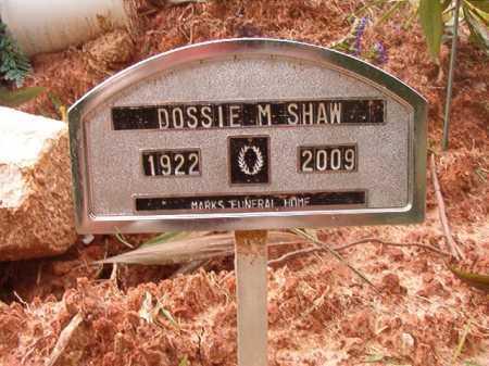 SHAW, DOSSIE M - Columbia County, Arkansas | DOSSIE M SHAW - Arkansas Gravestone Photos