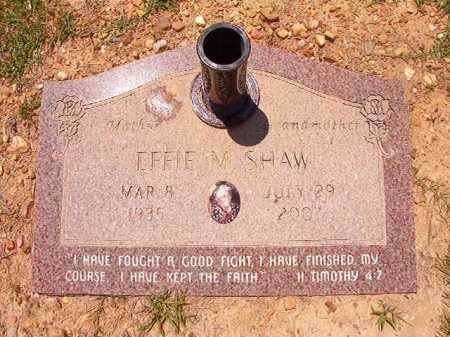 SHAW, EFFIE M - Columbia County, Arkansas   EFFIE M SHAW - Arkansas Gravestone Photos