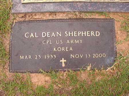 SHEPHERD (VETERAN KOR), CAL DEAN - Columbia County, Arkansas   CAL DEAN SHEPHERD (VETERAN KOR) - Arkansas Gravestone Photos