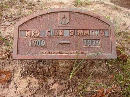 SIMMONS, CLARA - Columbia County, Arkansas | CLARA SIMMONS - Arkansas Gravestone Photos