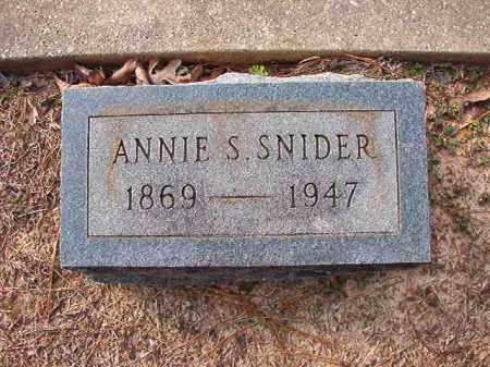 SNIDER, ANNIE S - Columbia County, Arkansas | ANNIE S SNIDER - Arkansas Gravestone Photos