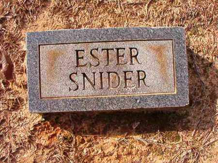 SNIDER, ESTER - Columbia County, Arkansas | ESTER SNIDER - Arkansas Gravestone Photos
