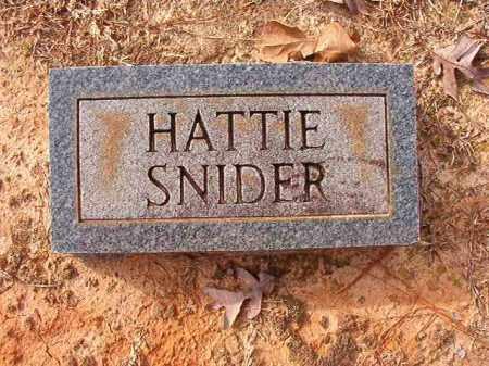 SNIDER, HATTIE - Columbia County, Arkansas | HATTIE SNIDER - Arkansas Gravestone Photos