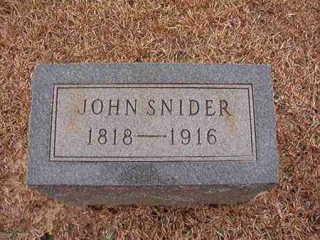 SNIDER, JOHN - Columbia County, Arkansas | JOHN SNIDER - Arkansas Gravestone Photos