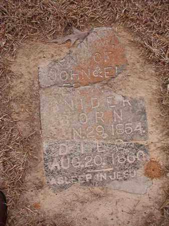 SNIDER, JOHN W - Columbia County, Arkansas   JOHN W SNIDER - Arkansas Gravestone Photos