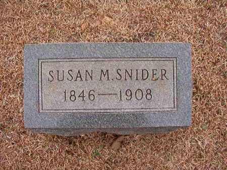 SNIDER, SUSAN M - Columbia County, Arkansas | SUSAN M SNIDER - Arkansas Gravestone Photos