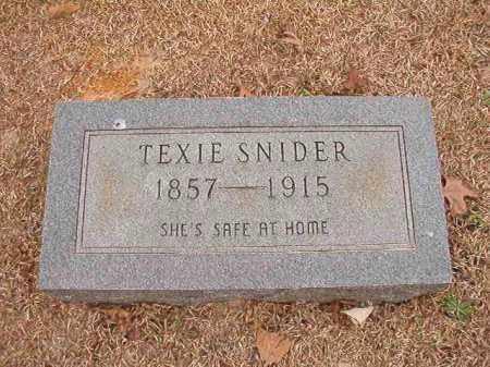 SNIDER, TEXIE - Columbia County, Arkansas | TEXIE SNIDER - Arkansas Gravestone Photos