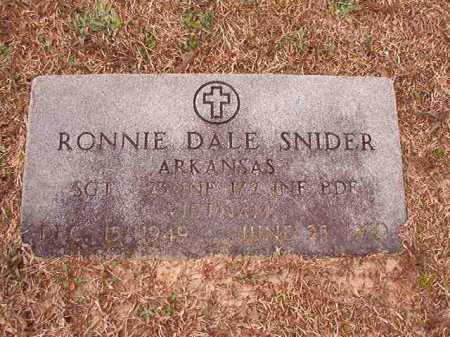 SNIDER (VETERAN VIET), RONNIE DALE - Columbia County, Arkansas   RONNIE DALE SNIDER (VETERAN VIET) - Arkansas Gravestone Photos