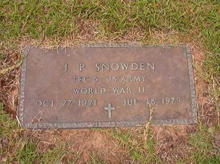 SNOWDEN (VETERAN WWII), J P - Columbia County, Arkansas | J P SNOWDEN (VETERAN WWII) - Arkansas Gravestone Photos